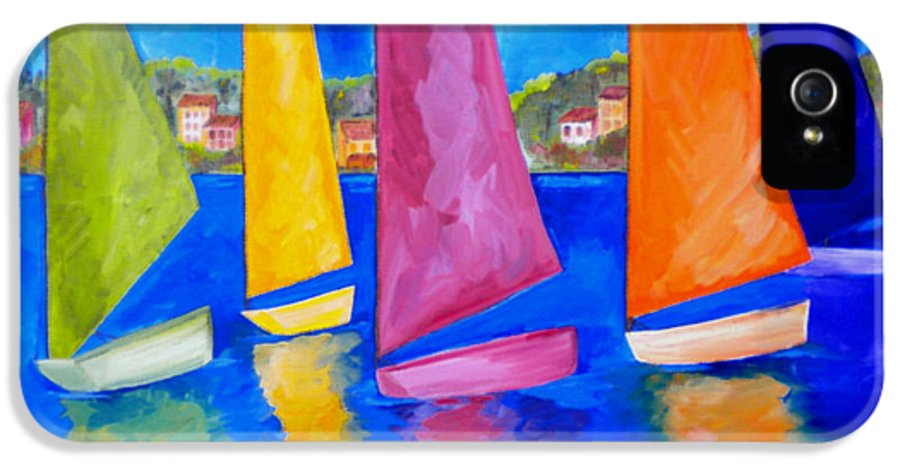 Usvi IPhone 5 Case featuring the painting Reflections Of Tortola by Patti Schermerhorn