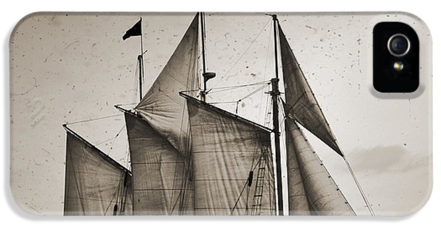 Schooner Pride IPhone 5 Case featuring the photograph Schooner Pride Tall Ship Charleston Sc by Dustin K Ryan