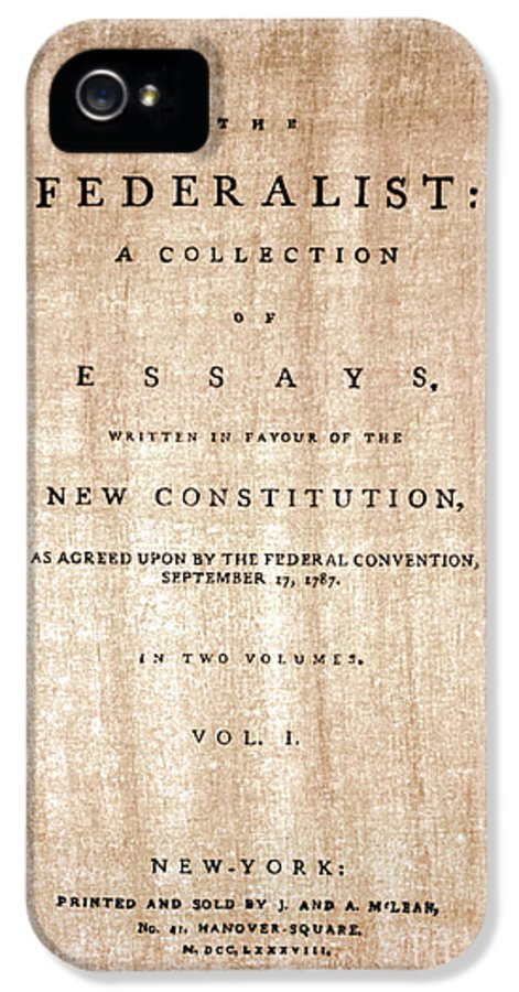1788 IPhone 5 Case featuring the photograph The Federalist, 1788 by Granger