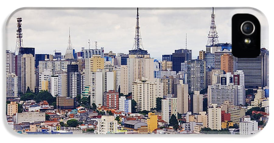 Apartment IPhone 5 Case featuring the photograph Buildings Of Downtown Sao Paulo by Jeremy Woodhouse
