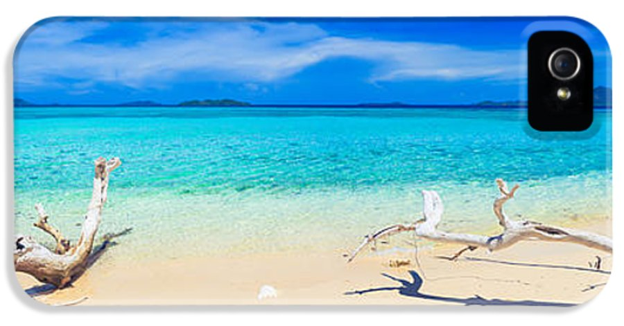 Sea IPhone 5 Case featuring the photograph Tropical Beach Malcapuya by MotHaiBaPhoto Prints