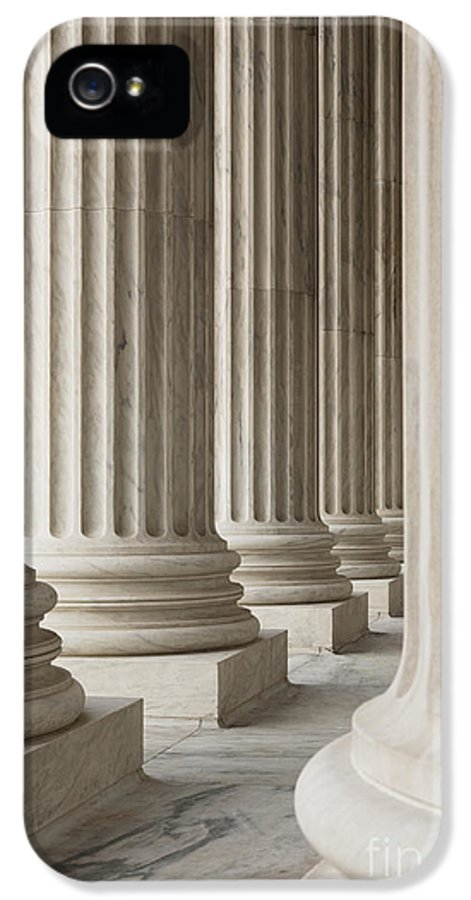 American History IPhone 5 Case featuring the photograph Columns Of The Supreme Court by Roberto Westbrook