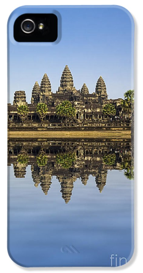 Buddhism IPhone 5 Case featuring the photograph Angkor Wat by MotHaiBaPhoto Prints