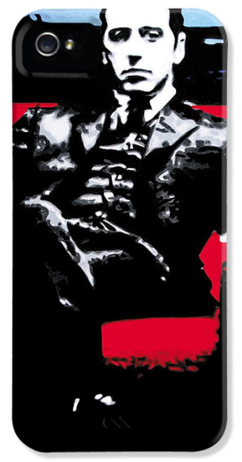 Al Pacino IPhone 5 Case featuring the painting The Godfather by Luis Ludzska