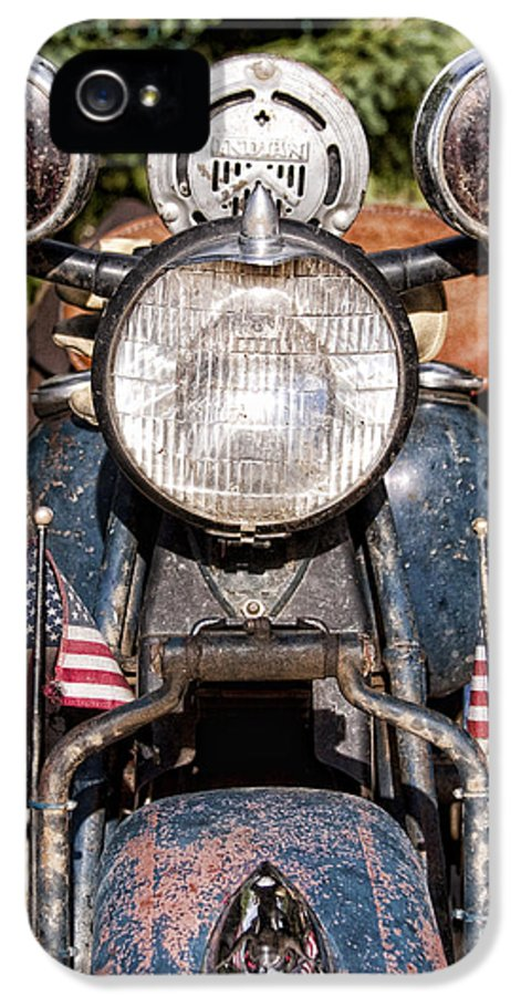 Old IPhone 5 Case featuring the photograph A Very Old Indian Harley-davidson by James BO Insogna