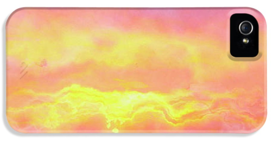 Abstract Art IPhone 5 Case featuring the mixed media Above The Clouds - Abstract Art by Jaison Cianelli