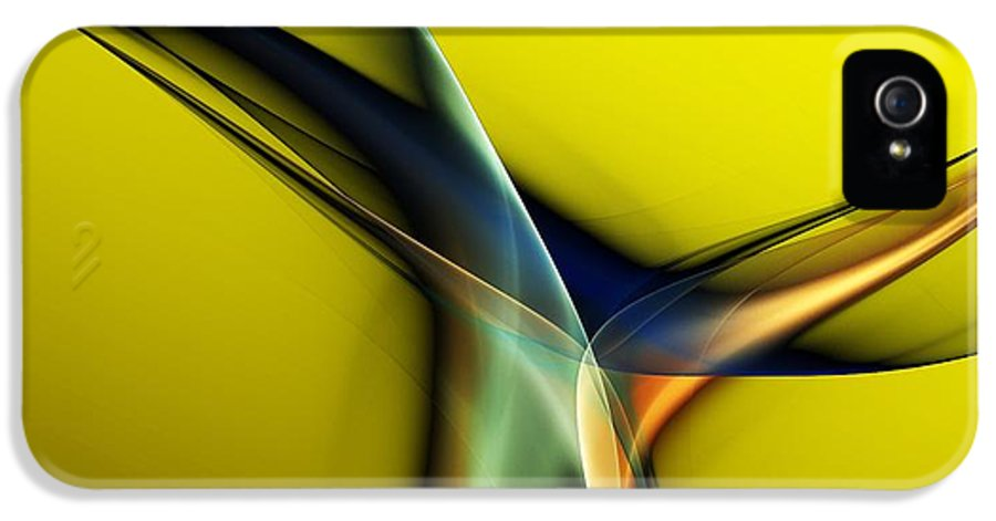 Fine Art IPhone 5 Case featuring the digital art Abstract 060311 by David Lane