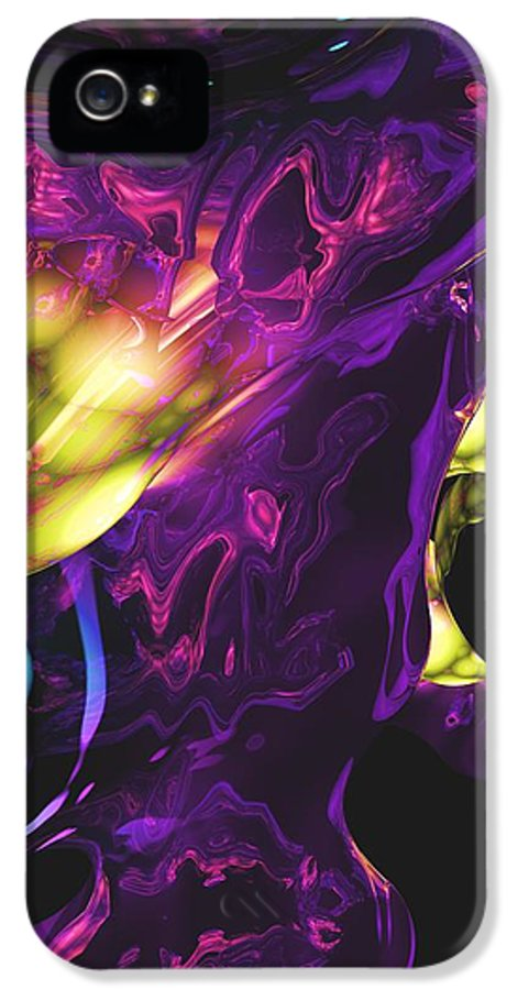 Abstract IPhone 5 Case featuring the digital art Abstract 7-25-09 by David Lane
