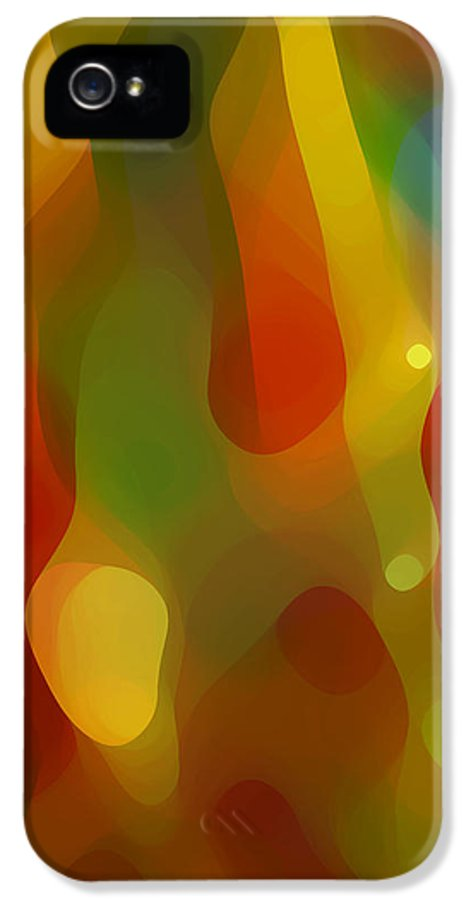 Abstract Art IPhone 5 Case featuring the painting Abstract Flowing Light by Amy Vangsgard