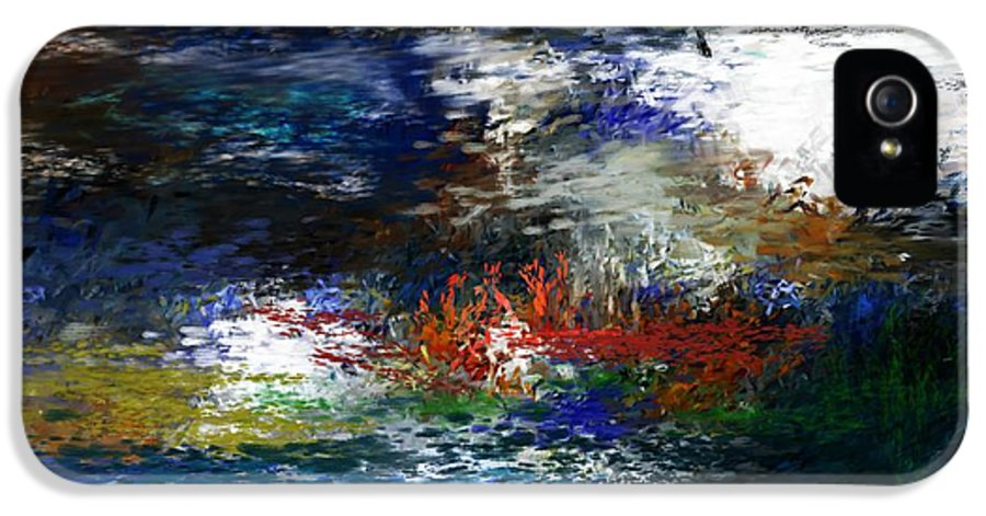 Abstract IPhone 5 Case featuring the digital art Abstract Impression 5-9-09 by David Lane