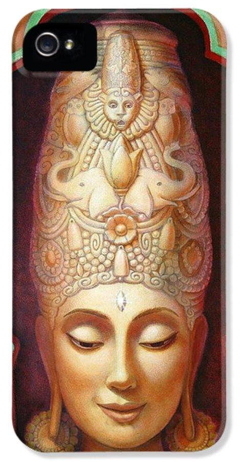 Meditation IPhone 5 Case featuring the painting Abundance Meditation by Sue Halstenberg