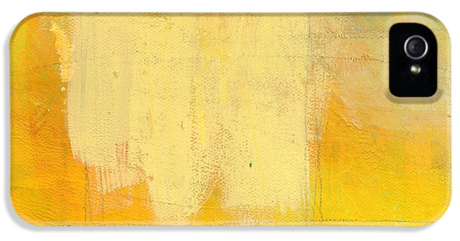 Abstract IPhone 5 Case featuring the painting Afternoon Sun -large by Linda Woods