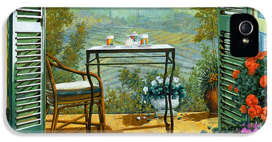 Terrace IPhone 5 Case featuring the painting Alle Dieci Del Mattino by Guido Borelli