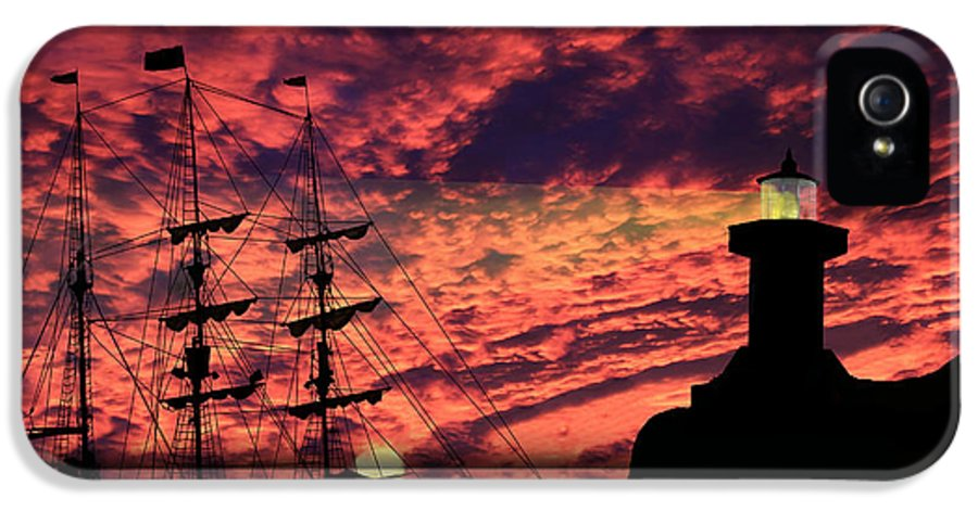 Pirate Ship IPhone 5 Case featuring the photograph Almost Home by Shane Bechler
