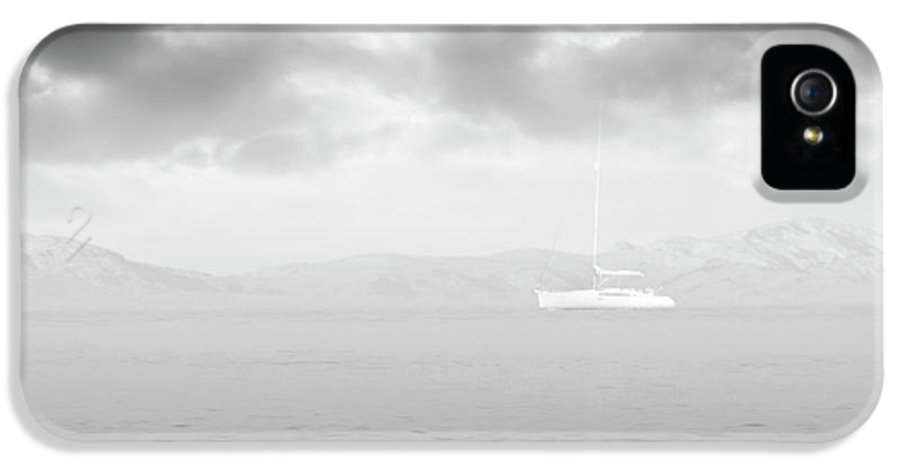 Sailboat IPhone 5 Case featuring the photograph Along The Breakwater by Wim Lanclus