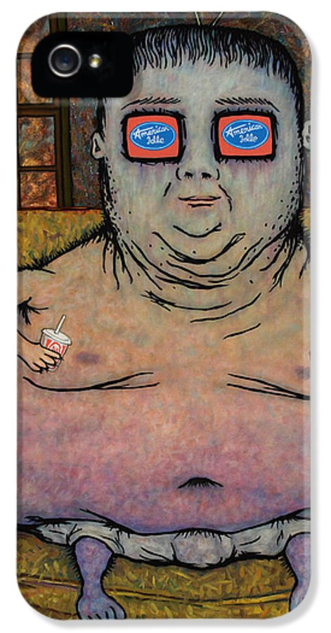 American Idol IPhone 5 Case featuring the painting American Idle by James W Johnson
