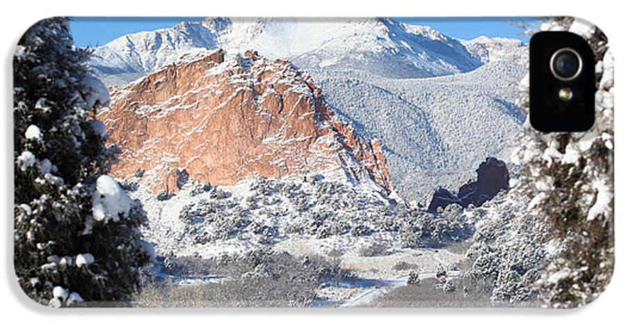 West IPhone 5 Case featuring the photograph America's Mountain by Eric Glaser