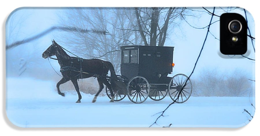Dreamscape IPhone 5 Case featuring the photograph Amish Dreamscape by David Arment