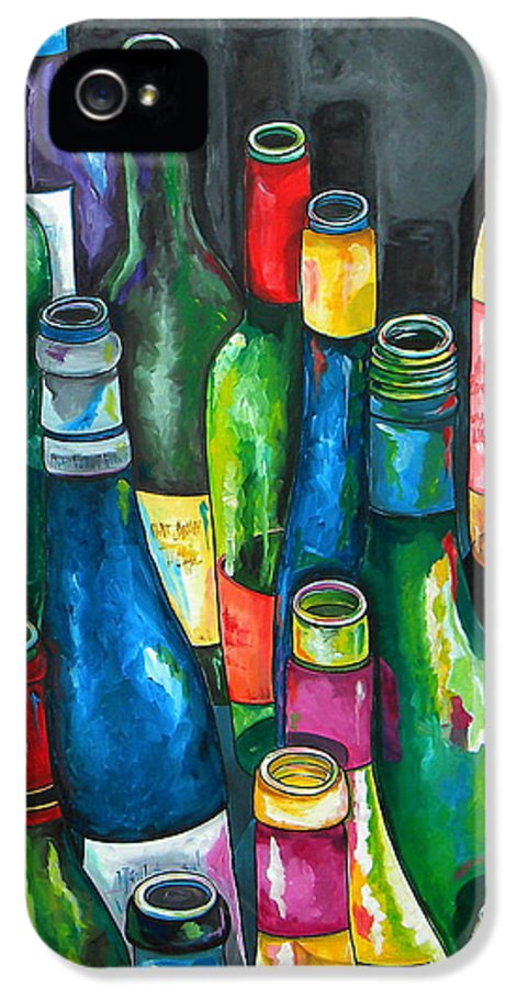 Wine IPhone 5 Case featuring the painting An Evening With Friends by Patti Schermerhorn