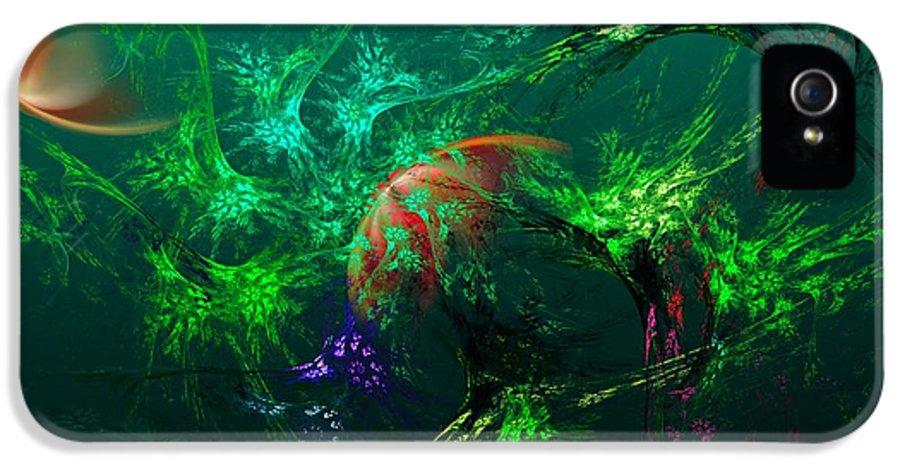 Fine Art IPhone 5 Case featuring the digital art An Octopus's Garden by David Lane
