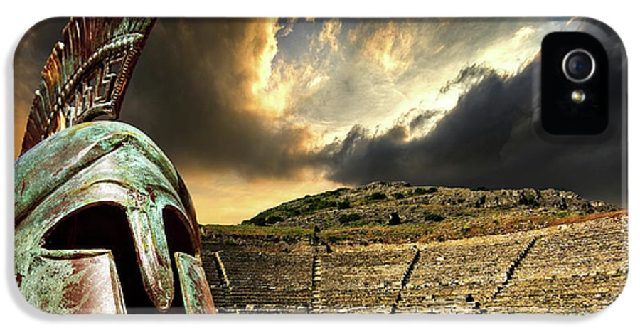 Greece IPhone 5 Case featuring the photograph Ancient Greece by Meirion Matthias