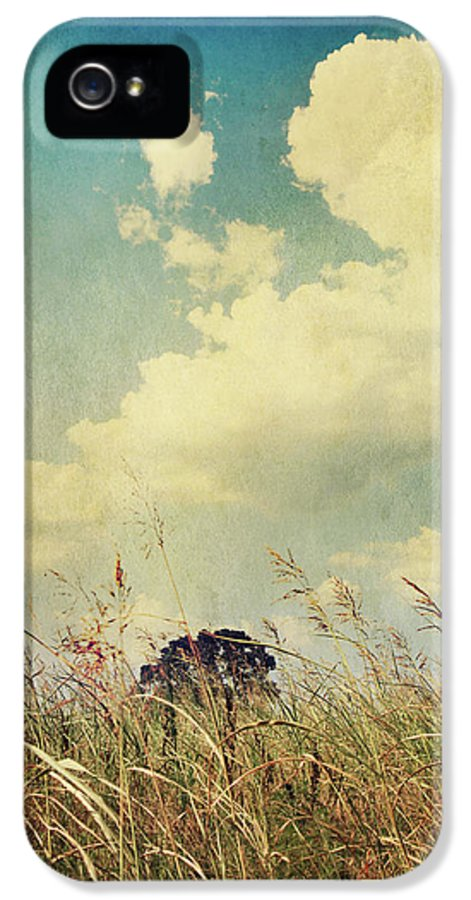 Clouds IPhone 5 Case featuring the photograph And The Livin's Easy by Laurie Search