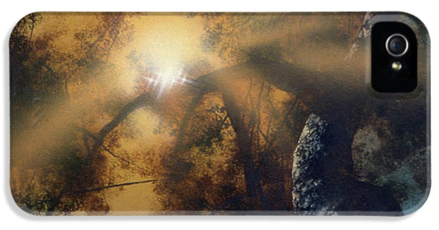Oak Tree IPhone 5 Case featuring the painting Andi's Oak by Don Dixon