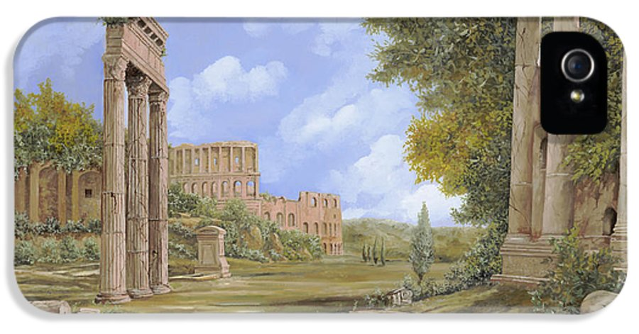 Landscapes IPhone 5 Case featuring the painting Anfiteatro Romano by Guido Borelli
