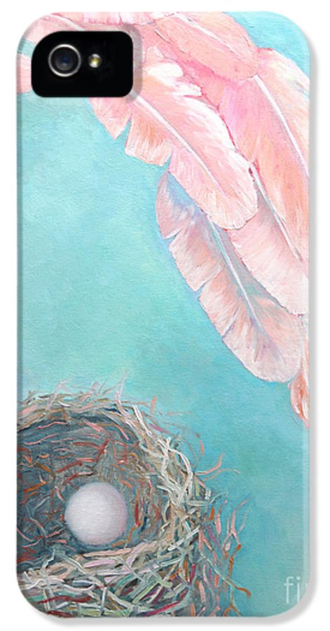 Angel IPhone 5 Case featuring the painting Angel's Nest by Ana Maria Edulescu