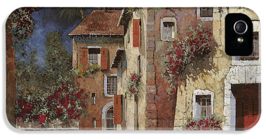 Night IPhone 5 Case featuring the painting Angolo Buio by Guido Borelli
