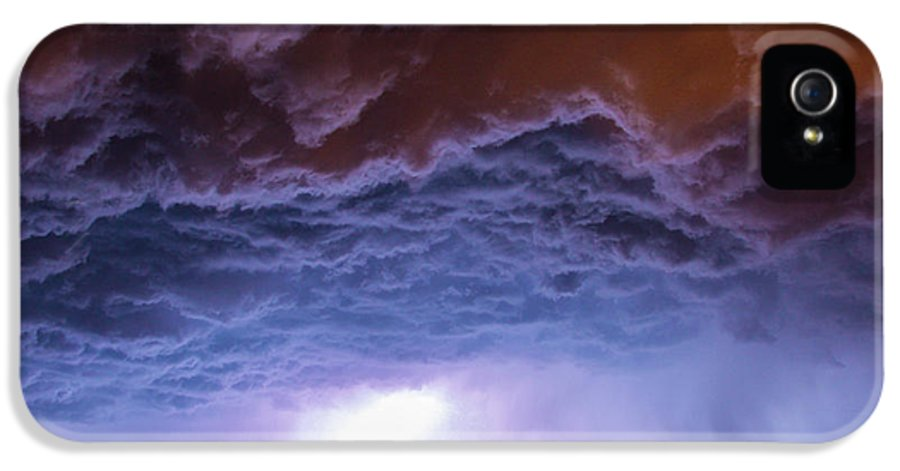 Nebraskasc IPhone 5 Case featuring the photograph Another Impressive Nebraska Night Thunderstorm 007 by NebraskaSC