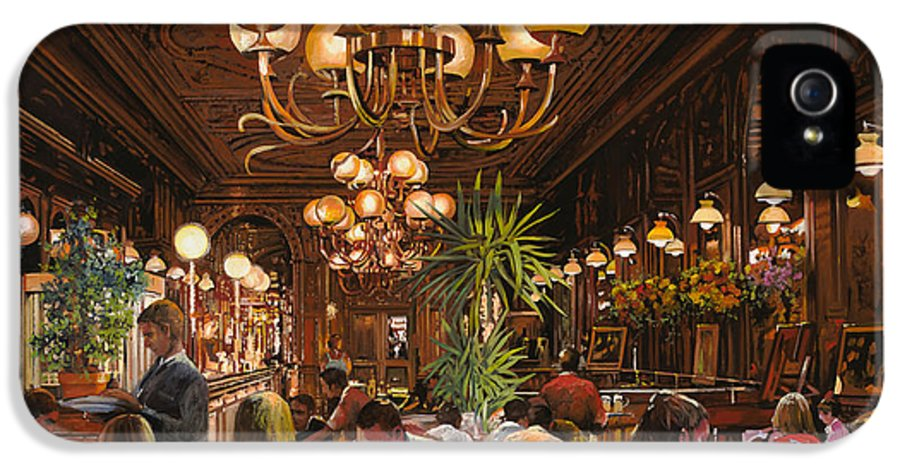 Brasserie IPhone 5 Case featuring the painting Antica Brasserie by Guido Borelli