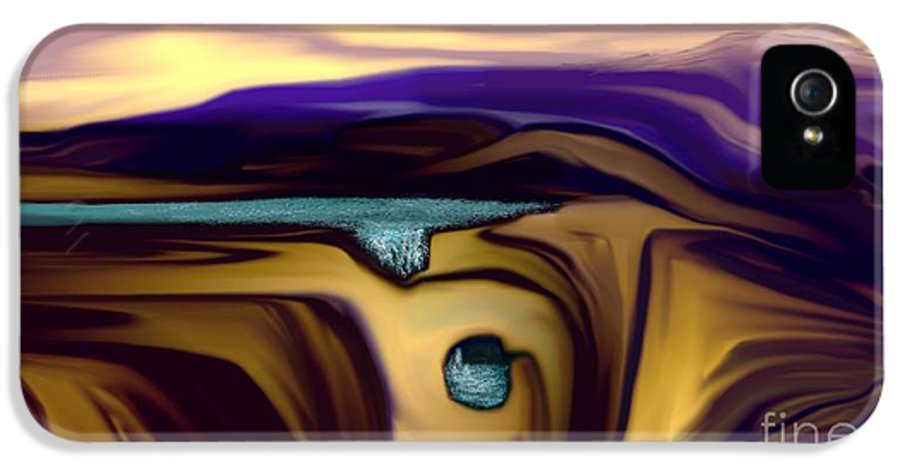 Abstract IPhone 5 Case featuring the digital art Aquifer by David Lane