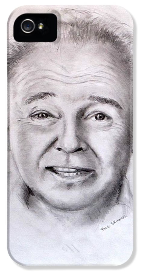Archie Bunker IPhone 5 Case featuring the drawing Archie by Jack Skinner