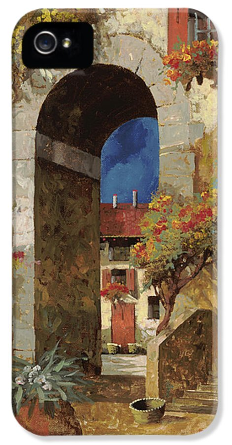 Guido IPhone 5 Case featuring the painting Arco Al Buio by Guido Borelli