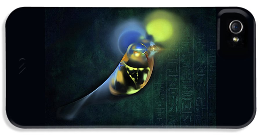 Horus IPhone 5 Case featuring the digital art Horus Egyptian God Of The Sky by Menega Sabidussi