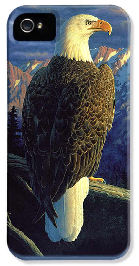 Bird IPhone 5 Case featuring the painting Morning Quest by Crista Forest