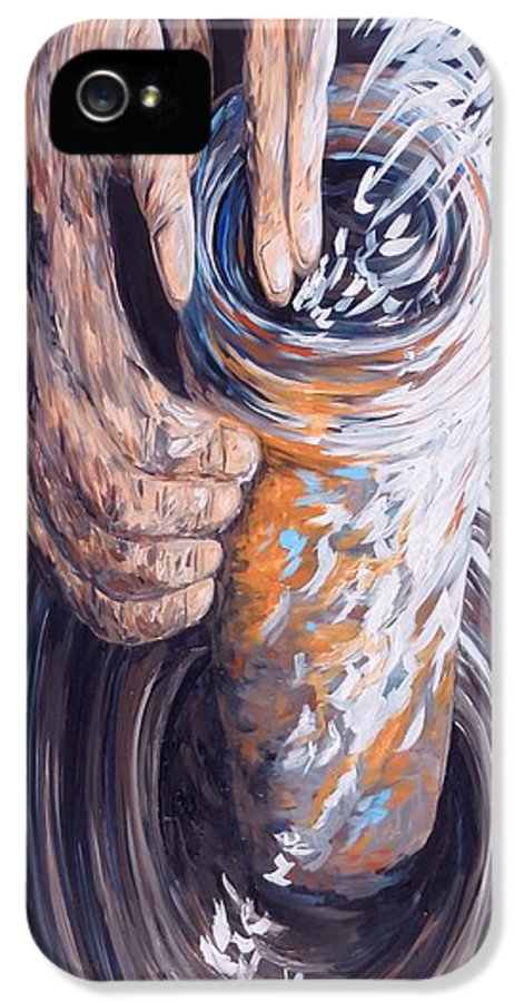 Christian IPhone 5 Case featuring the painting In The Potter's Hands by Eloise Schneider
