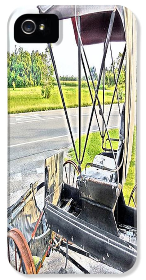Buggy IPhone 5 Case featuring the painting Buggy By The Road by Eloise Schneider