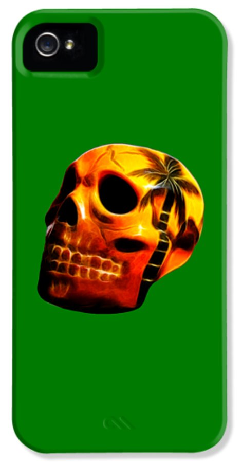 Skull IPhone 5 Case featuring the photograph Glowing Skull by Shane Bechler