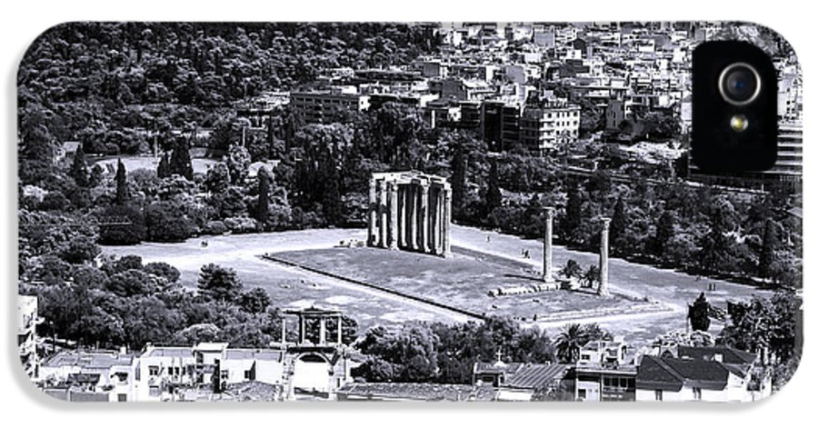 Athens Cityscape Iv IPhone 5 Case featuring the photograph Athens Cityscape Iv by John Rizzuto
