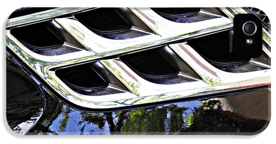 Automobile IPhone 5 Case featuring the photograph Auto Grill 16 by Sarah Loft