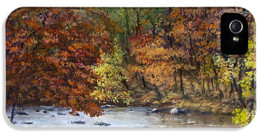 Autumn IPhone 5 Case featuring the painting Autumn River by Jack Skinner