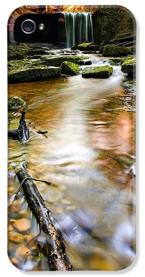 Autumn IPhone 5 Case featuring the photograph Autumnal Waterfall by Meirion Matthias