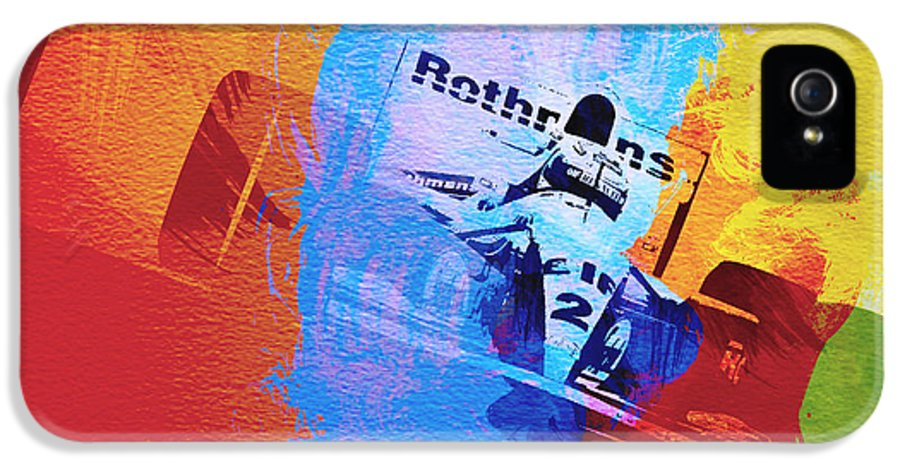 Ayrton Senna IPhone 5 Case featuring the painting Ayrton Senna by Naxart Studio