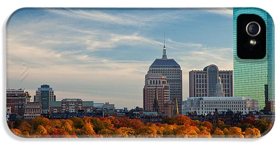 Autumn IPhone 5 Case featuring the photograph Back Bay Sail by Susan Cole Kelly