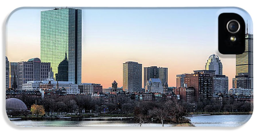 Boston IPhone 5 Case featuring the photograph Back Bay Sunrise by JC Findley