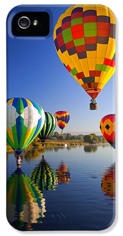 Balloon IPhone 5 Case featuring the photograph Balloon Reflections by Mike Dawson