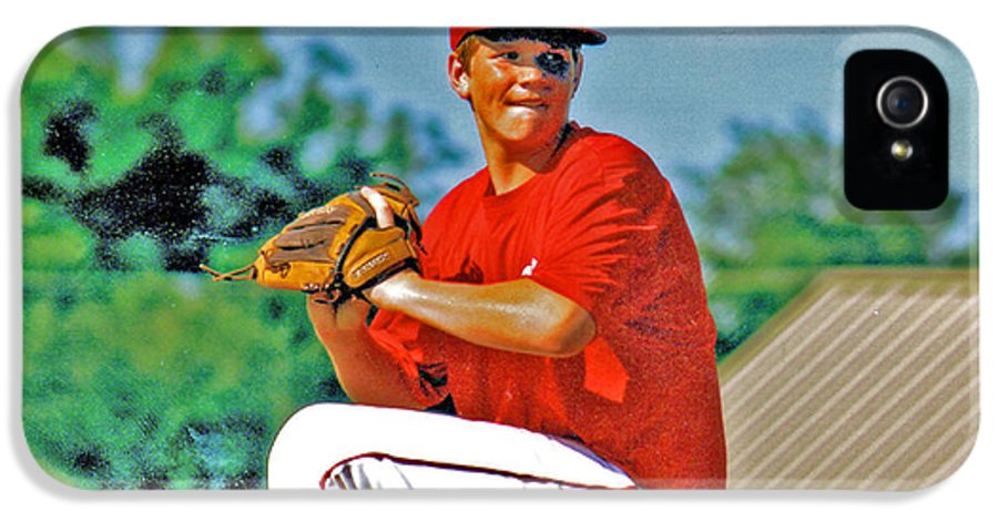 Baseball IPhone 5 Case featuring the photograph Baseball Pitcher by Marilyn Holkham