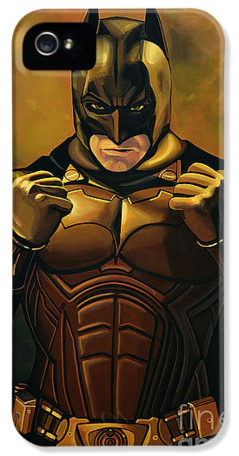 Batman IPhone 5 Case featuring the painting Batman The Dark Knight by Paul Meijering